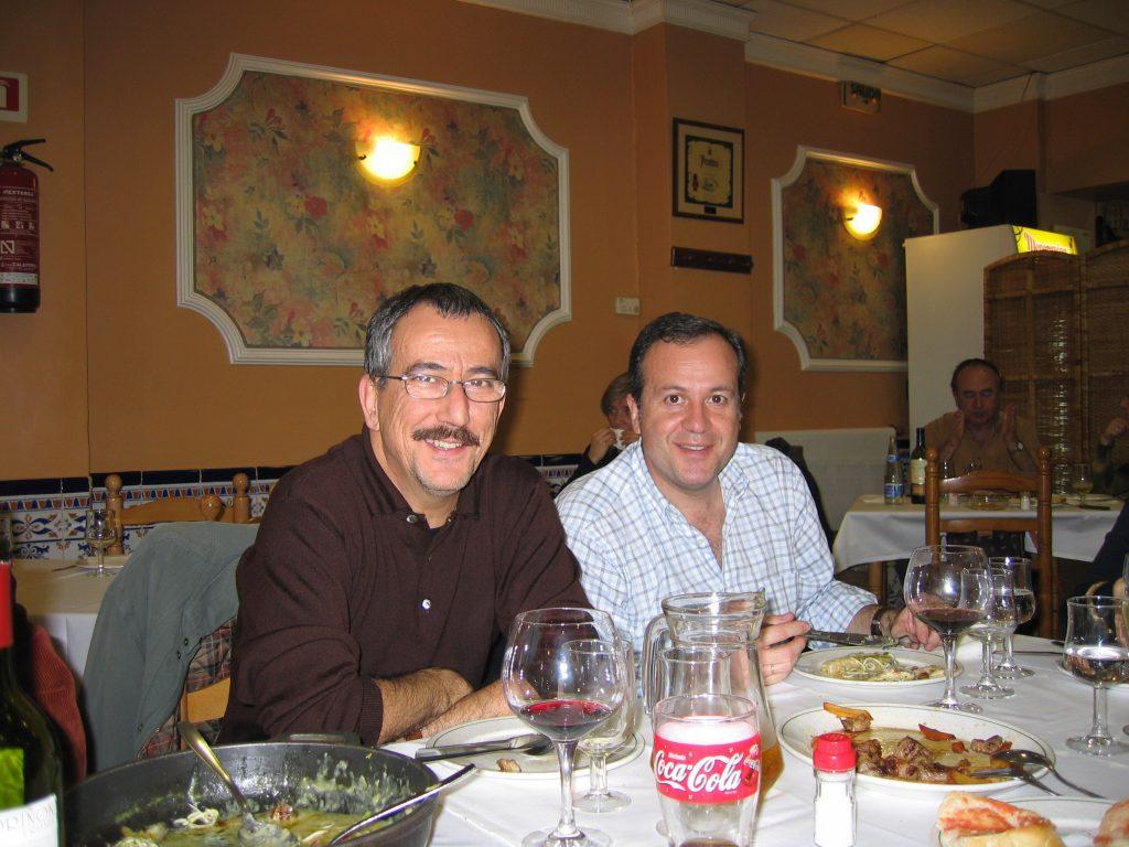 Con Antonio Cabrera en Valencia, 2004