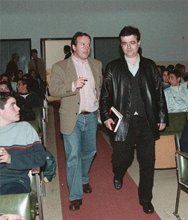 Con Javier Cercas en Plasencia