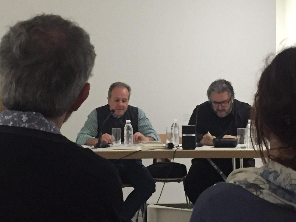 Con Julián Rodríguez en la Fundación Helga de Alvear. Cáceres, 2018