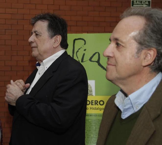 Con Landero en Badajoz, 2017