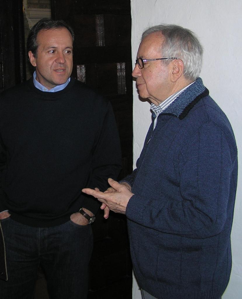 Con Pablo García Baena en Córdoba.