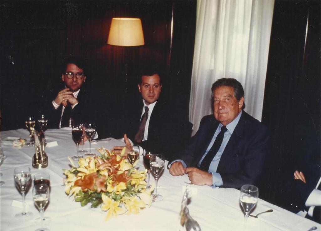 Con Paz y Villena en Jockey, 1991