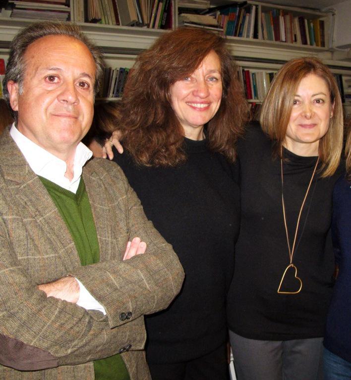 Con Pepa Fernández y Lola Larumbe en la Alberti presentando Tánger