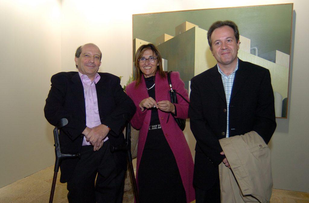 Con Santiago Antón y Yolanda. Salón de otoño 2005