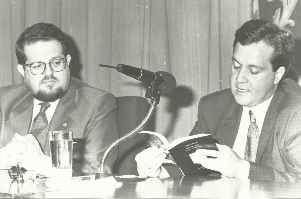 Con Santiago Castelo, 1991