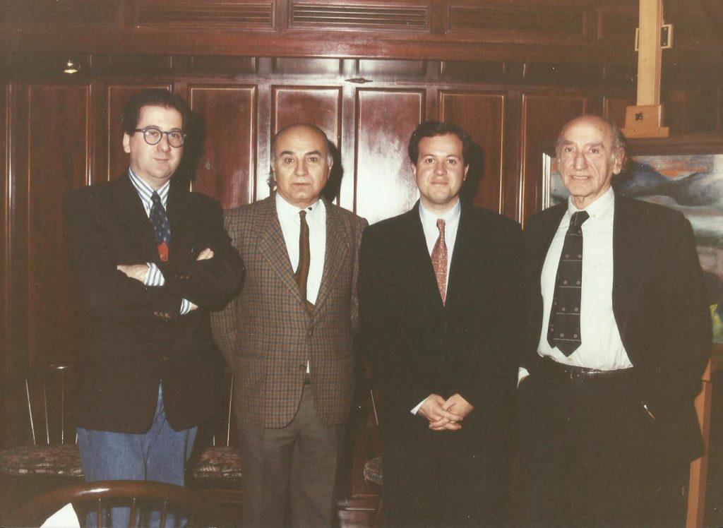Con Villena, Brines y Bousoño. Madrid, 1991