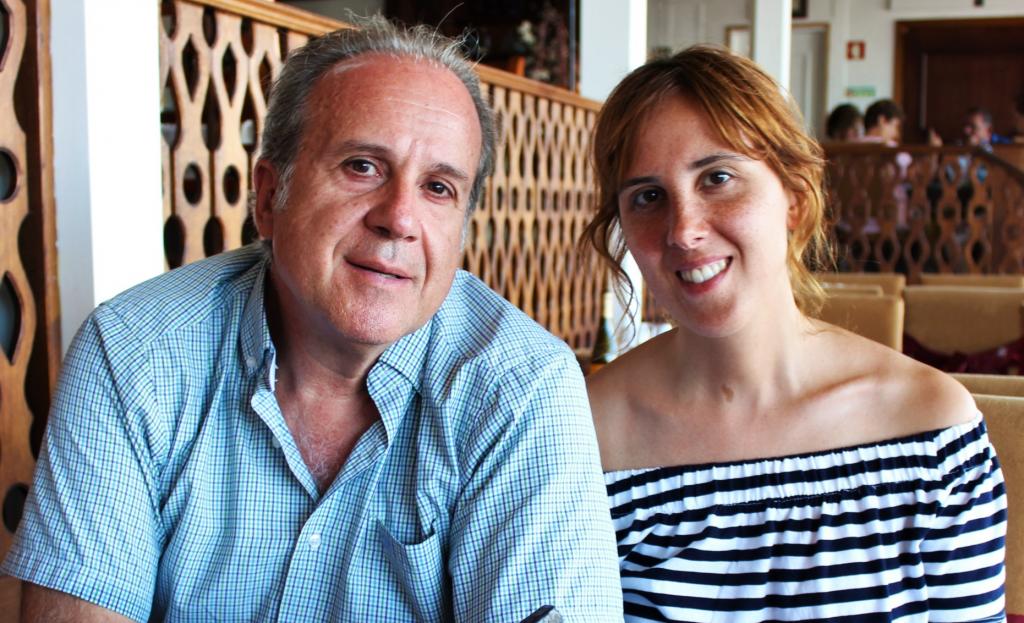 Con mi hija Leticia, Monfortinho, 2019