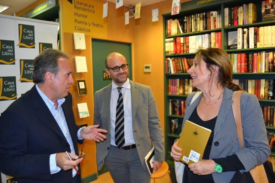 En Madrid con Marina Gasparini Lagrange y Pablo Luque. 2014