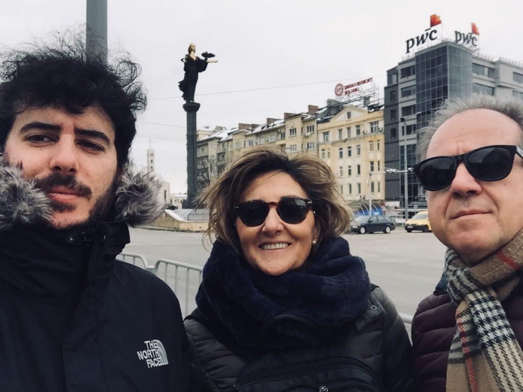 En Sofía con Yolanda y Alberto. 2018