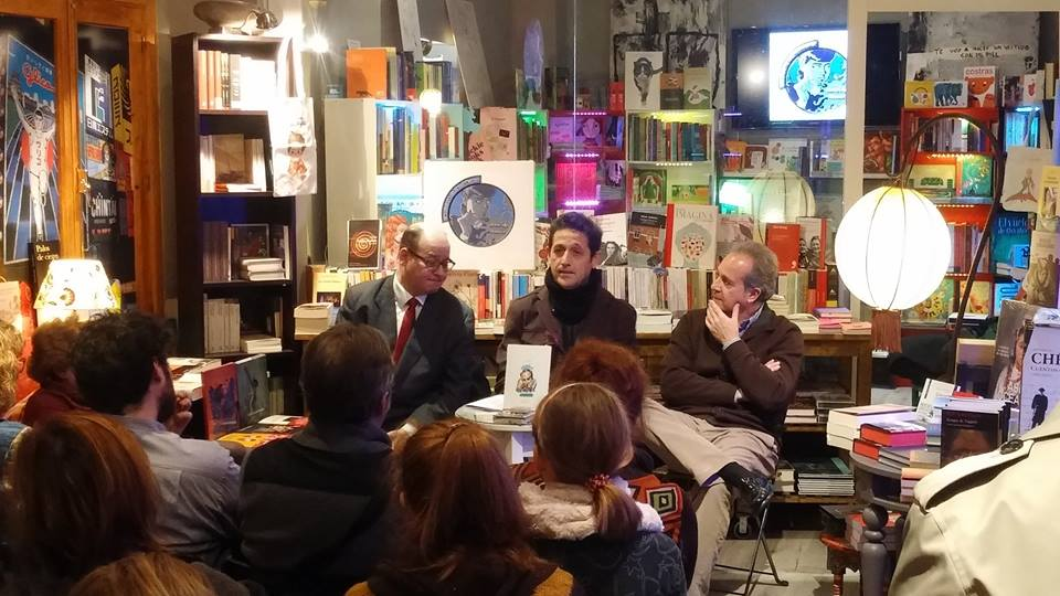 Presentación antología ilustrada. Con Esteban Navarro y Ramón Pérez Parejo