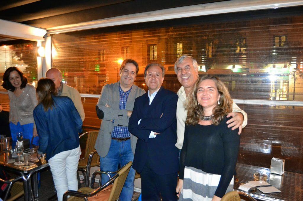 Presentación de Tánger en Madrid. Con Clemente Lapuerta, Jordi Doce, A. Mª Flórez...