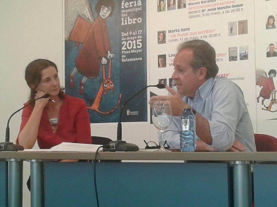Presentación de Tánger. Con Isabel Sánchez. Salamanca, 2015