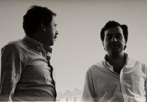 Ángel Campos y ÁV en Mérida, hacia 1983